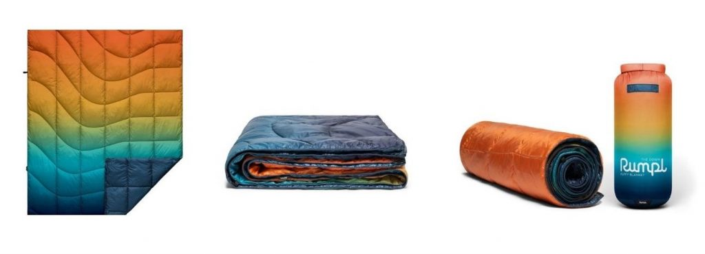 Rumpl down camping blanket