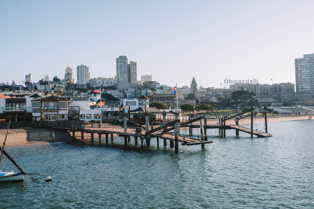 View of San Francisco from Hyde St Pier