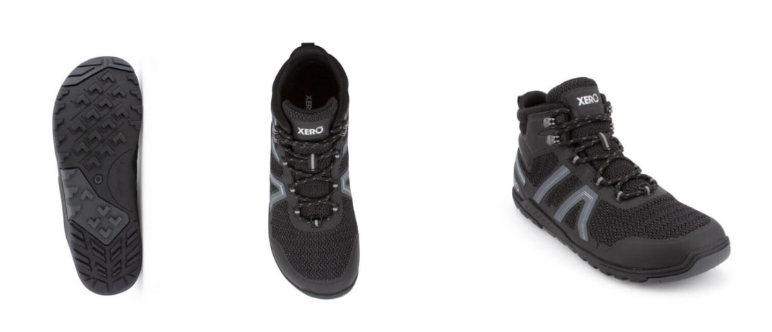 Xero Shoes Excursions Fusion Barefoot Hiking Boots with Wide Toe Box
